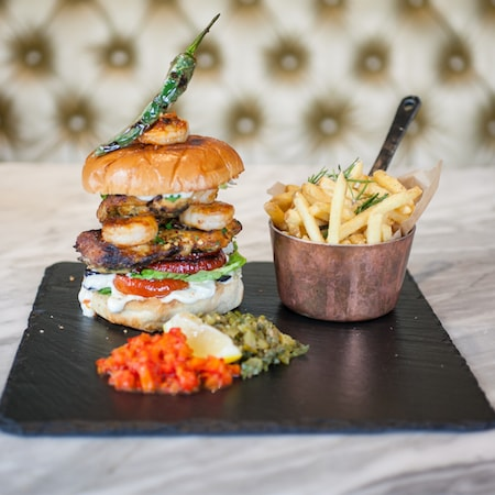 Italian restaurants milton keynes - Burger and fries
